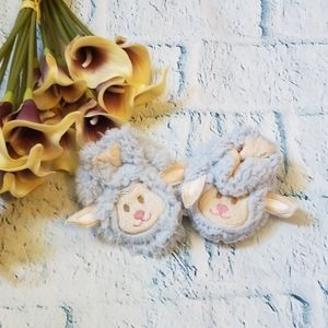 Snoozies Sheep Face Baby Slippers